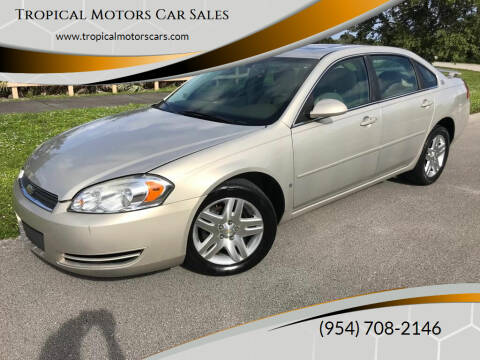 2008 Chevrolet Impala for sale at Tropical Motors Car Sales in Deerfield Beach FL