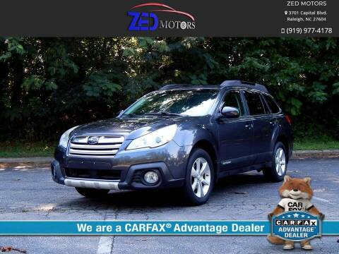 2013 Subaru Outback for sale at Zed Motors in Raleigh NC