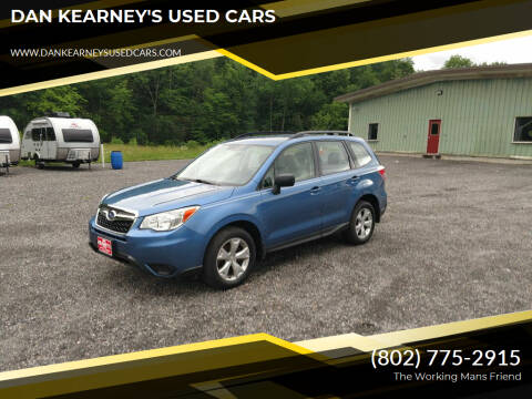 2015 Subaru Forester for sale at DAN KEARNEY'S USED CARS in Center Rutland VT