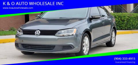 2012 Volkswagen Jetta for sale at K & O AUTO WHOLESALE INC in Jacksonville FL