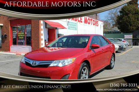 2012 Toyota Camry for sale at AFFORDABLE MOTORS INC in Winston Salem NC