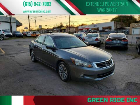 2010 Honda Accord for sale at Green Ride Inc in Nashville TN