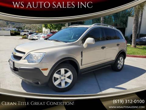 2012 Chevrolet Captiva Sport for sale at WS AUTO SALES INC in El Cajon CA