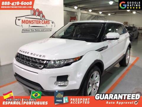 2012 Land Rover Range Rover Evoque for sale at Monster Cars in Pompano Beach FL
