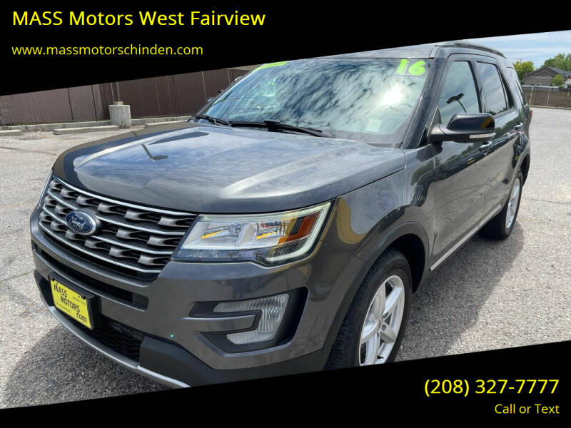 2016 Ford Explorer for sale at MASS Motors West Fairview in Boise ID