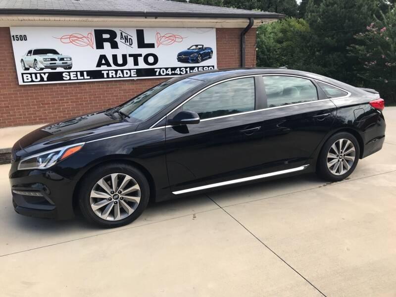 2015 Hyundai Sonata for sale at R & L Autos in Salisbury NC