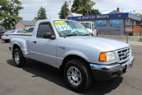 2002 Ford Ranger for sale at All American Motors in Tacoma WA