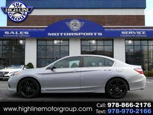 2016 Honda Accord for sale at Highline Group Motorsports in Lowell MA