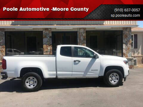 2016 Chevrolet Colorado for sale at Poole Automotive in Laurinburg NC