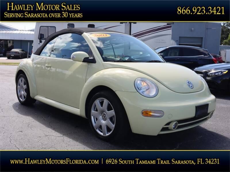 2003 Volkswagen New Beetle Convertible for sale at Hawley Motor Sales in Sarasota FL