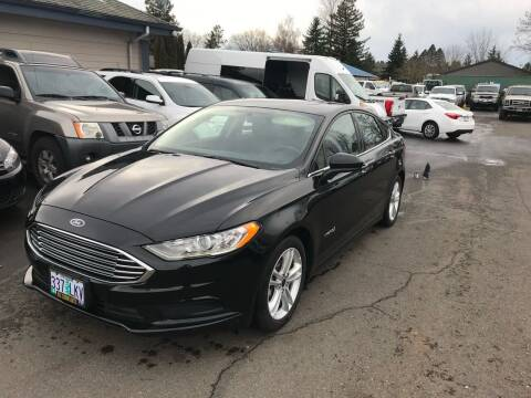 2018 Ford Fusion Hybrid for sale at South Commercial Auto Sales in Salem OR