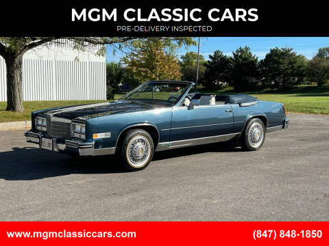 1985 Cadillac Eldorado for sale at MGM CLASSIC CARS-New Arrivals in Addison IL