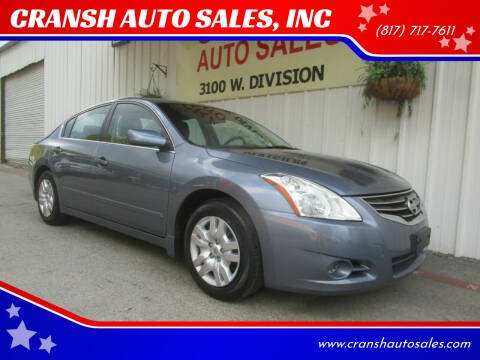2011 Nissan Altima for sale at CRANSH AUTO SALES, INC in Arlington TX