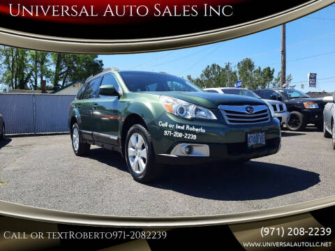 2012 Subaru Outback for sale at Universal Auto Sales Inc in Salem OR