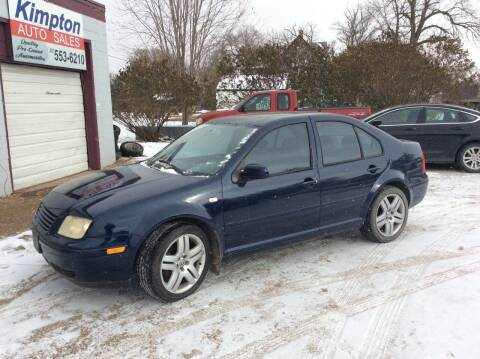 2002 Volkswagen Jetta for sale at Kimpton Auto Sales in Wells MN