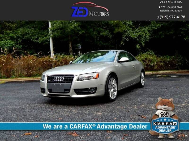 2011 Audi A5 for sale at Zed Motors in Raleigh NC