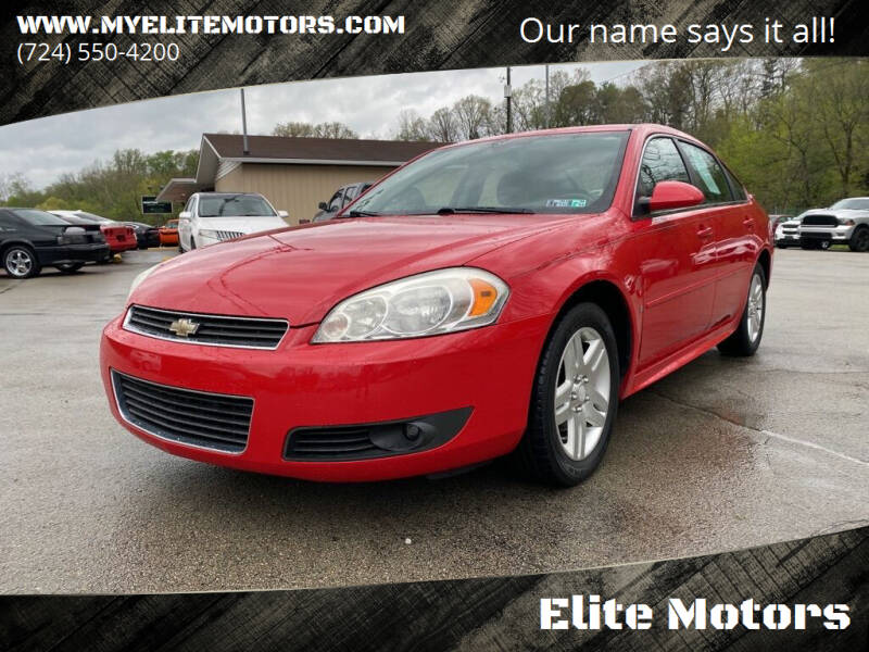 2009 Chevrolet Impala for sale at Elite Motors in Uniontown PA