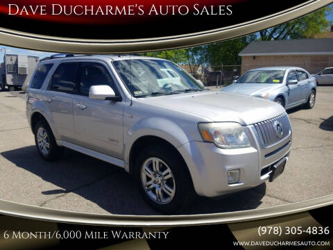 2008 Mercury Mariner for sale at Dave Ducharme's Auto Sales in Lowell MA