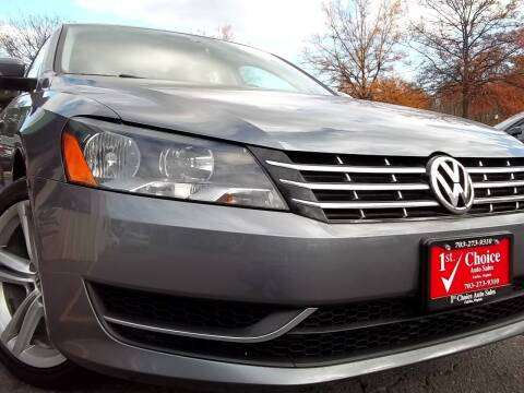 2014 Volkswagen Passat for sale at 1st Choice Auto Sales in Fairfax VA