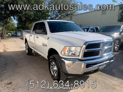 2016 RAM Ram Pickup 2500 for sale at ADK AUTO SALES LLC in Austin TX