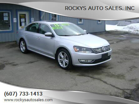 2015 Volkswagen Passat for sale at Rockys Auto Sales, Inc in Elmira NY