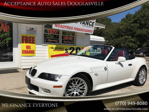 2000 BMW Z3 for sale at Acceptance Auto Sales Douglasville in Douglasville GA