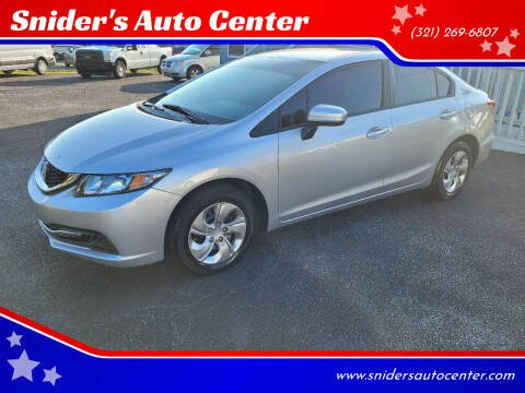 2015 Honda Civic for sale at Snider's Auto Center in Titusville FL