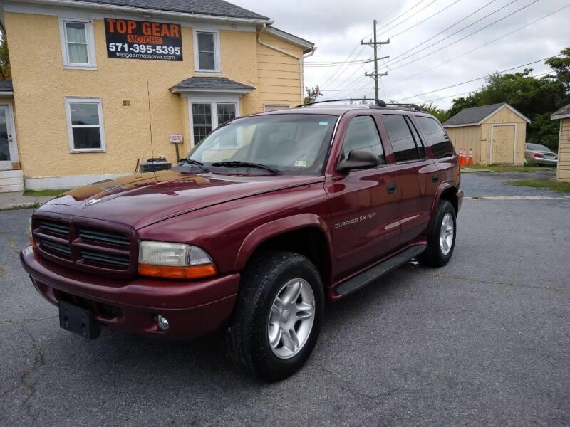 2001 Dodge Durango for sale at Top Gear Motors in Winchester VA