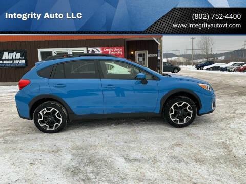 2017 Subaru Crosstrek for sale at Integrity Auto LLC in Sheldon VT