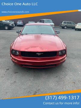 2007 Ford Mustang for sale at Choice One Auto LLC in Beech Grove IN