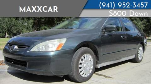 2005 Honda Accord for sale at MaxxCar in Sarasota FL