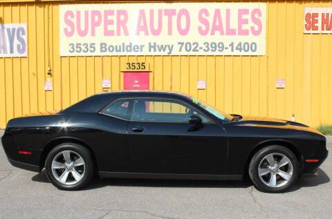 2016 Dodge Challenger for sale at Super Auto Sales in Las Vegas NV