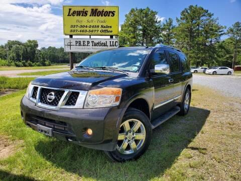 2012 Nissan Armada for sale at Lewis Motors LLC in Deridder LA