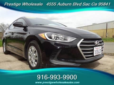 2017 Hyundai Elantra for sale at Prestige Wholesale in Sacramento CA