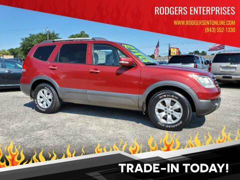 2009 Kia Borrego for sale at Rodgers Enterprises in North Charleston SC