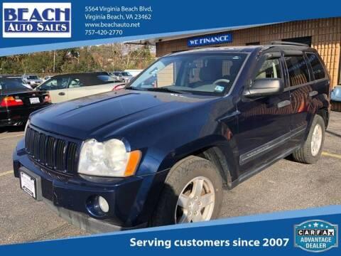 2006 Jeep Grand Cherokee for sale at Beach Auto Sales in Virginia Beach VA
