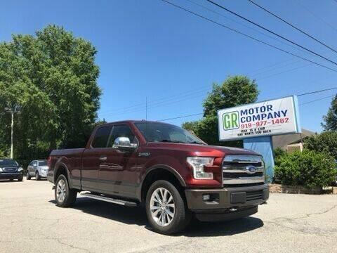 2015 Ford F-150 for sale at GR Motor Company in Garner NC