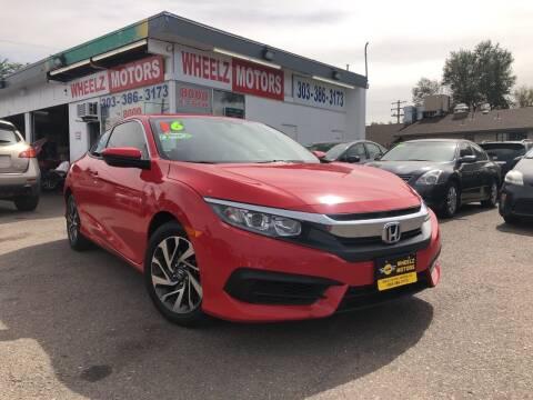 2016 Honda Civic for sale at GPS Motors in Denver CO