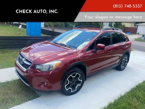 2013 Subaru XV Crosstrek for sale at CHECK  AUTO INC. in Tampa FL