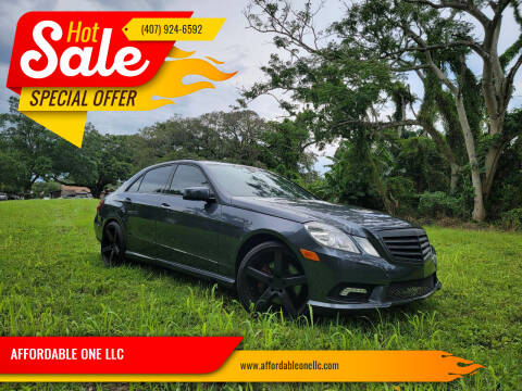 2011 Mercedes-Benz E-Class for sale at AFFORDABLE ONE LLC in Orlando FL