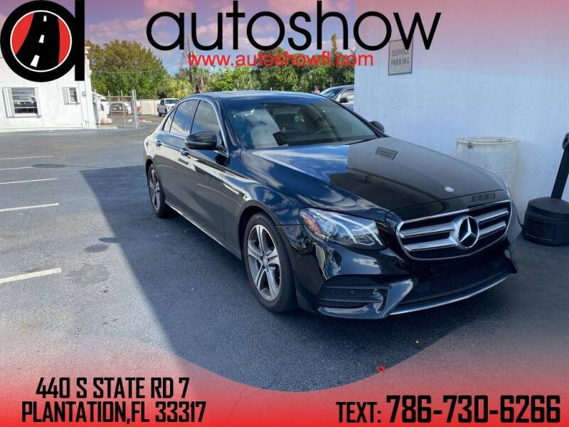 2017 Mercedes-Benz E-Class for sale at AUTOSHOW SALES & SERVICE in Plantation FL