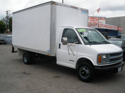 2000 Chevrolet Express Cutaway for sale at AUTO WHOLESALE OUTLET in North Hollywood CA