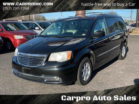 2013 Chrysler Town and Country for sale at Carpro Auto Sales in Chesapeake VA