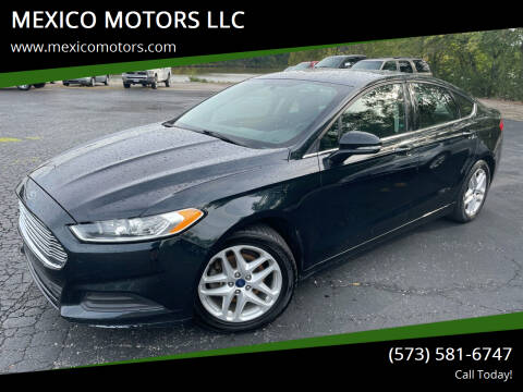 2014 Ford Fusion for sale at MEXICO MOTORS LLC in Mexico MO