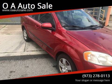 2010 Chevrolet Aveo for sale at O A Auto Sale in Paterson NJ