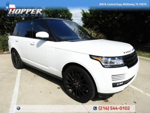 2016 Land Rover Range Rover for sale at HOPPER MOTORPLEX in Mckinney TX