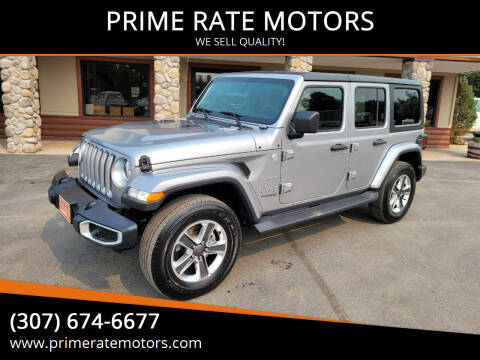2020 Jeep Wrangler Unlimited for sale at PRIME RATE MOTORS in Sheridan WY