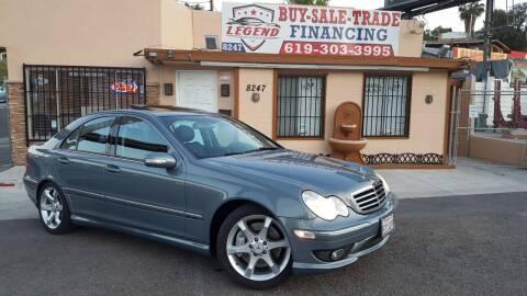 2007 Mercedes-Benz C-Class for sale at Legend Auto Sales Inc in Lemon Grove CA