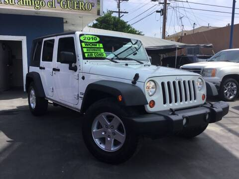 2010 Jeep Wrangler Unlimited for sale at LA PLAYITA AUTO SALES INC in South Gate CA