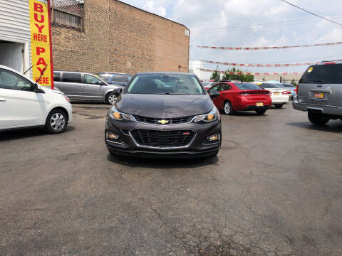 2017 Chevrolet Cruze for sale at RON'S AUTO SALES INC in Cicero IL